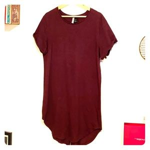 H&M burnout midi tee shirt dress!